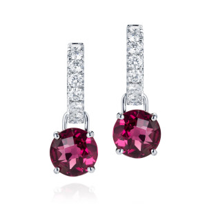 Garnet drops and Diamond Dolly hoops