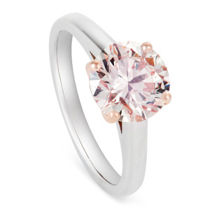 Pink Diamond and Rose Gold solitaire