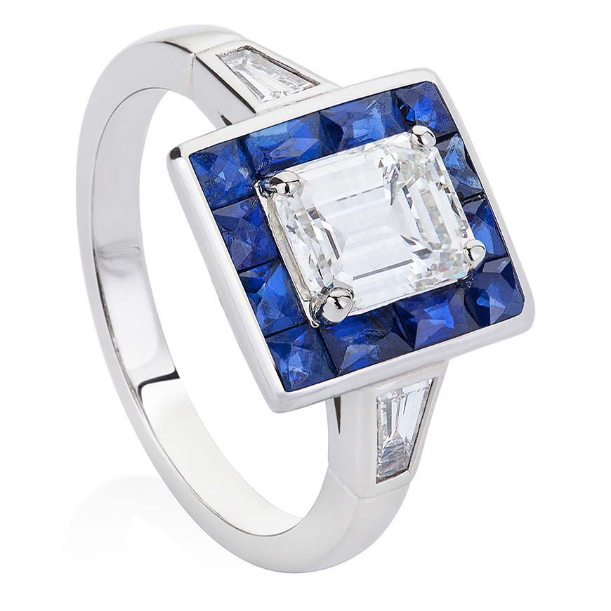 emerald_cut_diamond_and_sapphire_ring