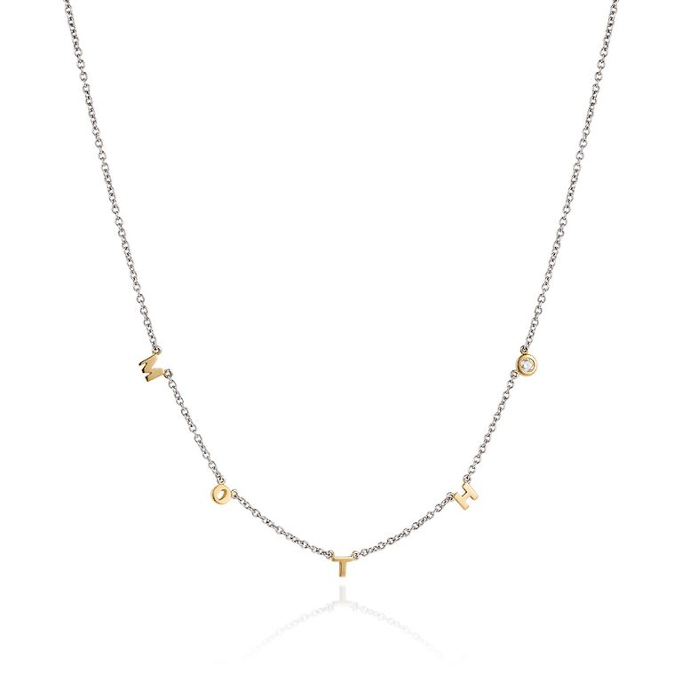 Personalised Diamond and Gold Necklace