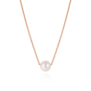 Pearl and Rose Gold necklace