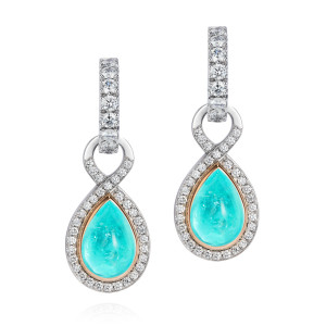 Diamond and Paraiba Tourmaline drops