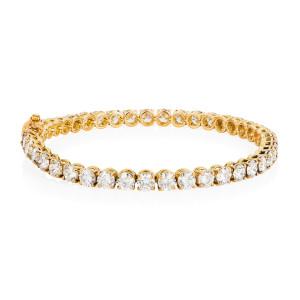 diamond and gold tennis bracelet