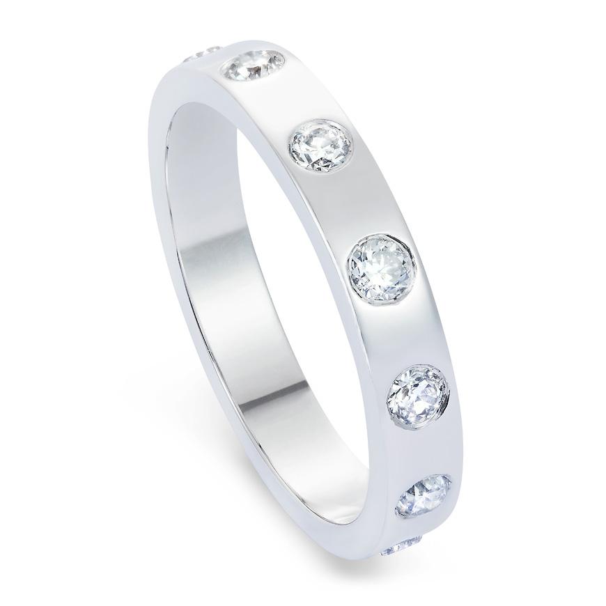 platinum and diamond eternity band
