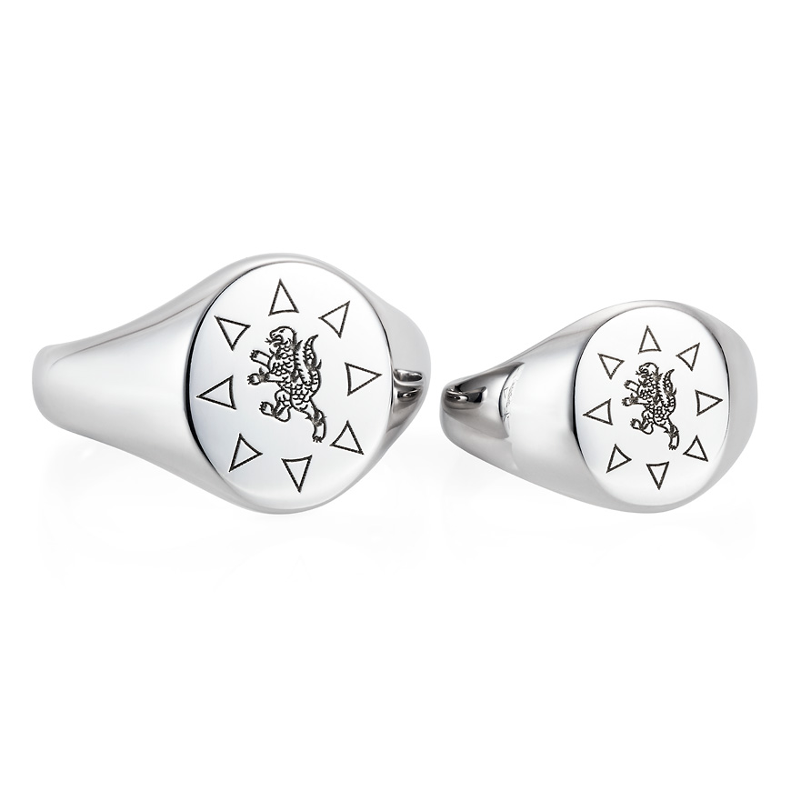 sterling silver engraved signet rings