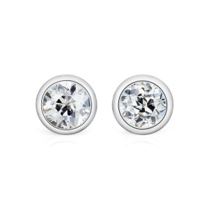 diamond and platinum studs