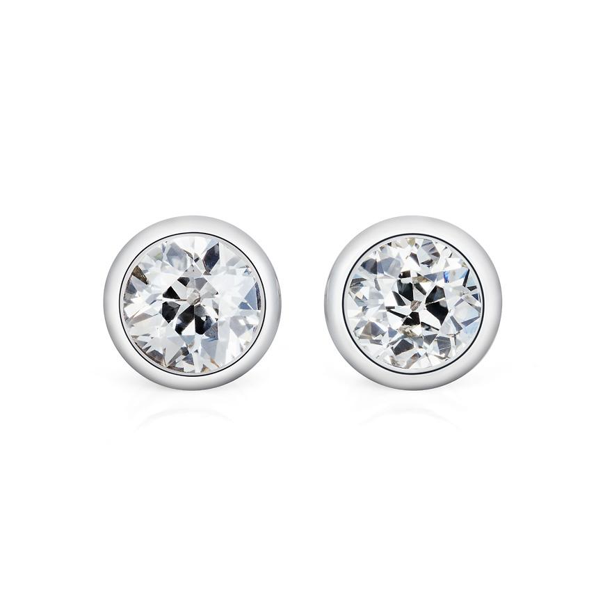 diamond and platinum studs