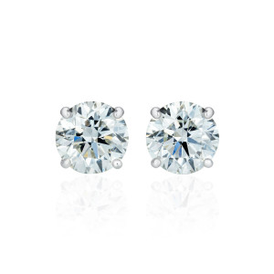 Brilliant cut diamond stud earrings