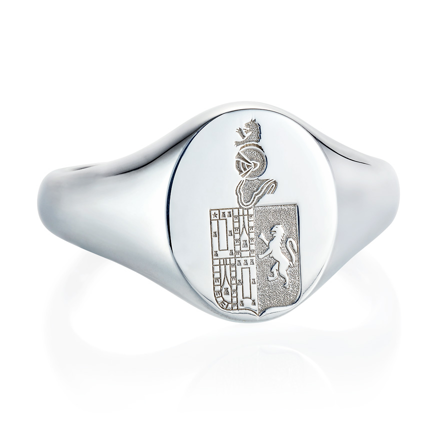 sterling silver debossed signet ring