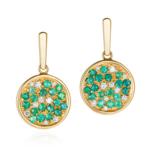 paraiba and diamond earrings