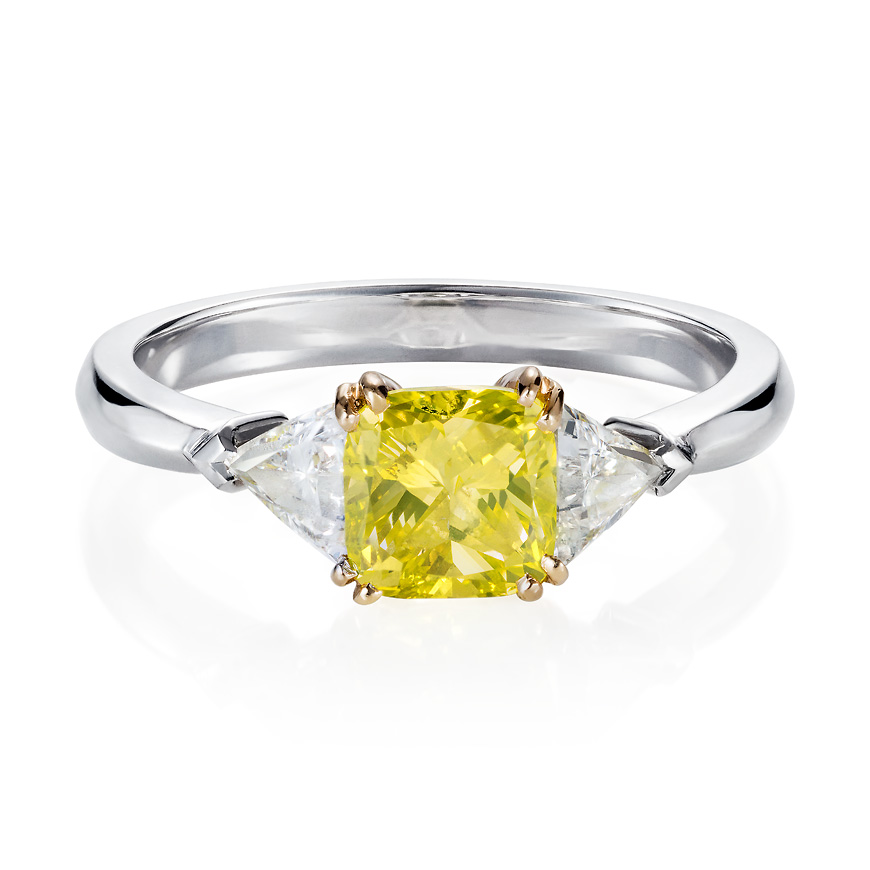 cushion_cut_yellow_diamond_ring